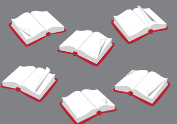 Opened Books with Flipped Page Vector - Kostenloses vector #350337