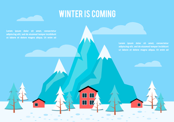 Free Flat Winter Vector Background - Kostenloses vector #350407