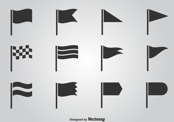 Flag Vector Icon Set - Kostenloses vector #350427