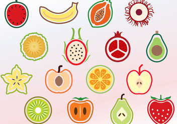Sliced Fruits Vectors - vector gratuit #350467