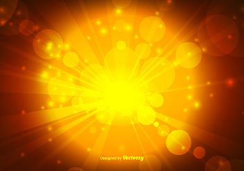 Warm Gold Bokeh Style Background Vector - vector gratuit #350547