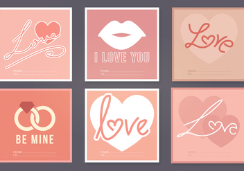 Vector Valentine's Day Cards - vector gratuit #350557