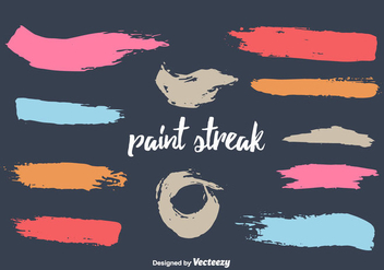 Free Paint Streak Vector Set - бесплатный vector #350607
