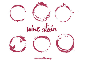 Vector Set of Wine Stain - vector gratuit #350617