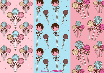 Cake Pops Patterns Vector - vector gratuit #350647