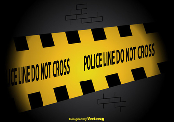 Police Line Vector Background - vector gratuit #350657