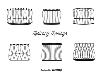 Balcony Railings Vector - vector gratuit #350687