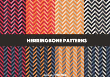 Colorful Herringbone Pattern Vectors - Kostenloses vector #350717