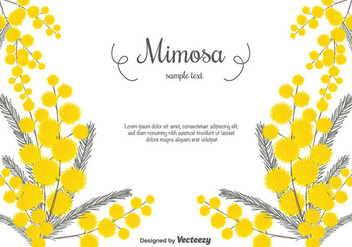 Hand Drawn Mimosa Vector Background - бесплатный vector #350757