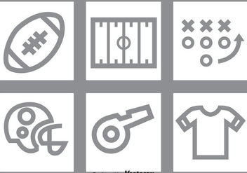Football Gray Icons Set - vector gratuit #350767