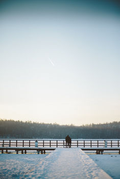 Couple on the Bridge - image gratuit #350787