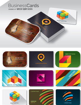 9 Business Card and mockup - vector gratuit #350797