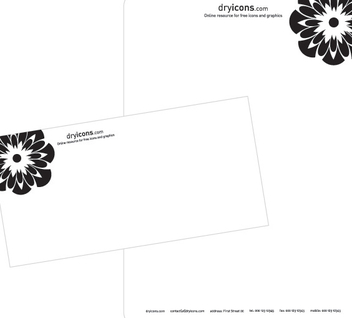 Letterhead & Envelop Design Template - бесплатный vector #350997