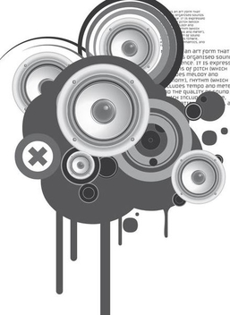 Speaker Circles Musical Background - vector gratuit #351007