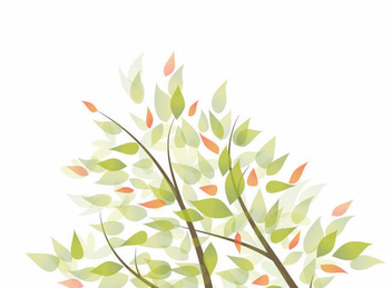 Tree Branches Leaves Background - vector gratuit #351067