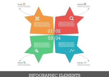 Star Shape Flat Infographic Design - vector #351367 gratis