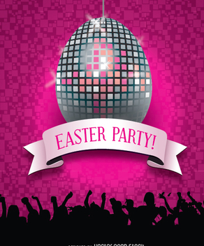 Easter nightclub party - Free vector #351427
