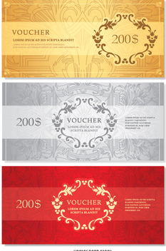 Voucher template - vector gratuit #351437