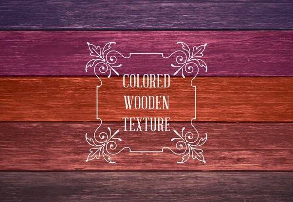 Colorful Wooden Textures - vector gratuit #351447
