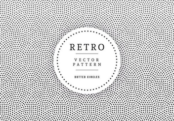 Retro Label Dotted Circle Texture - vector gratuit #351477
