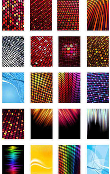 Colorful Pixel Tiles Background Set - Free vector #351507