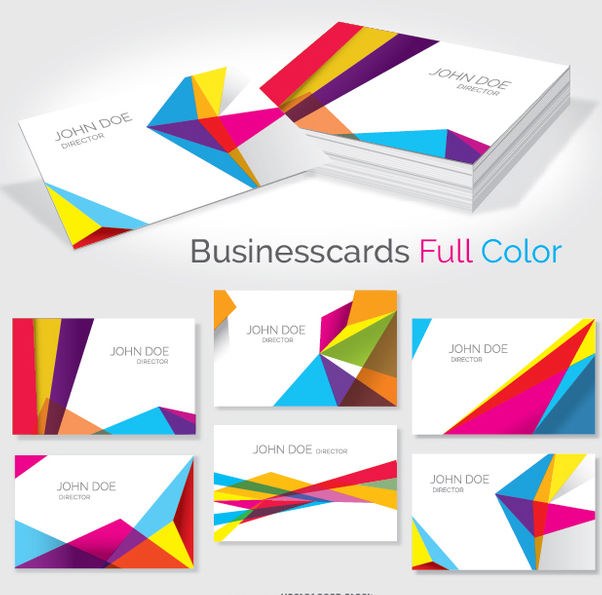Business card colorful geometrics - Free vector #351517