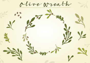 Free Olive Wreath Vector - бесплатный vector #351667