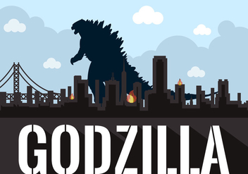 Vector Illustration of Godzilla - Free vector #351757