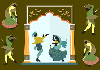 Vector Illustration of Indian Couples - бесплатный vector #351767