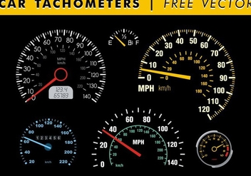 Car Tachometers Free Vector - бесплатный vector #351807