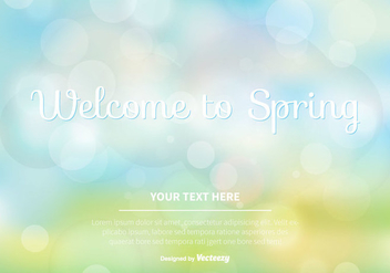 Blurred Spring Vector Background - Kostenloses vector #351847