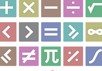 Math Symbols Icon Vectors - бесплатный vector #351887