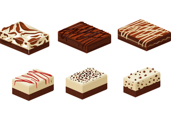 Types of Brownie Cakes - vector gratuit #351927