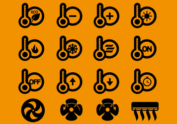 Hvac Icons Vector - Free vector #351987