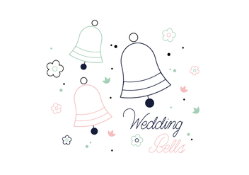 Free Wedding Bells Vector - Free vector #352007