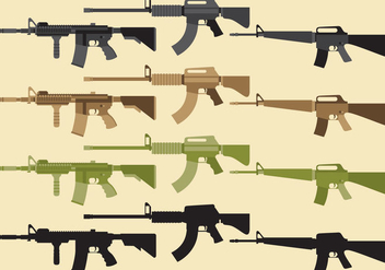 Military Weapon Vectors - vector gratuit #352027