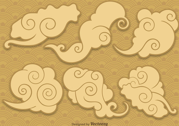 Vector Chinese Clouds - бесплатный vector #352047