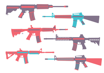 Ar15 Colorful Vector - vector gratuit #352107