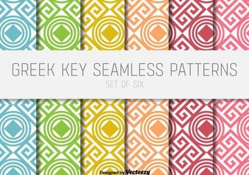 Greek Key Vector Patterns - vector gratuit #352197