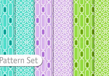 Retro Colorful Pattern set - vector gratuit #352217