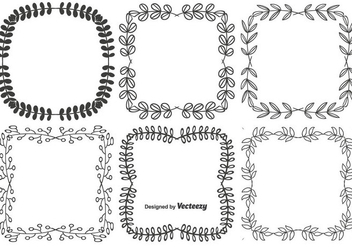 Decorative Vector Frame Set - vector #352307 gratis