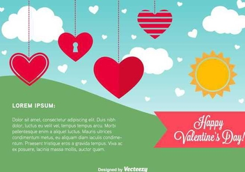 Happy Valentine's Day Card Template - vector #352317 gratis