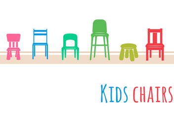 Kids Chair Set - vector #352367 gratis