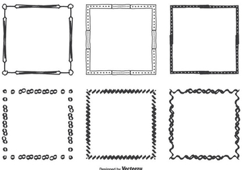 Hand Drawn Vector Frames Set - Free vector #352387