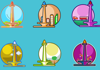 Monas Icons Vector - бесплатный vector #352437