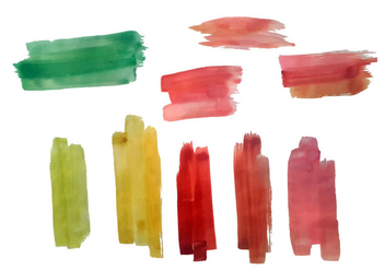 Free Colorful Brush Strokes Vector - vector #352447 gratis