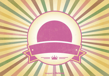 Colorful Retro Sunburst Vector Background - Kostenloses vector #352477