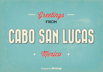 Cabo San Lucas Retro Greeting Illustration - vector gratuit #352537