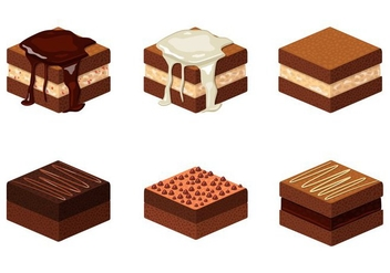 Brownie Illustration - vector gratuit #352687