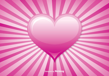 Sunburst Heart Vector Background - Free vector #352727